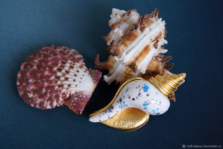 Vintage seashell brooch, Vintage brooches, Stavropol,  Фото №1