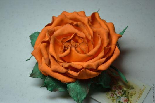 """Броши ручной работы. Ярмарка Мастеров - ручная работа. Купить Брошь- зажим """"Роза для тебя"""". Handmade. Брошь ручной работы"""