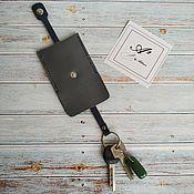 Сумки и аксессуары handmade. Livemaster - original item key holder made of genuine leather. Handmade.