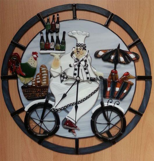 """Часы для дома ручной работы. Ярмарка Мастеров - ручная работа. Купить Часы """" Повар"""". Handmade. Часы, часы интерьерные"""
