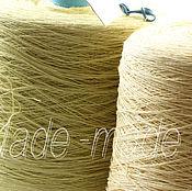 Материалы для творчества ручной работы. Ярмарка Мастеров - ручная работа Лён для вязания. Handmade.