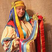 Одежда ручной работы. Ярмарка Мастеров - ручная работа + Русский народный девичий головной убор Лента - венок. Handmade.