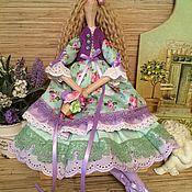 Куклы и игрушки ручной работы. Ярмарка Мастеров - ручная работа Кукла тильда мятно-лавандовая фея ангел. Handmade.