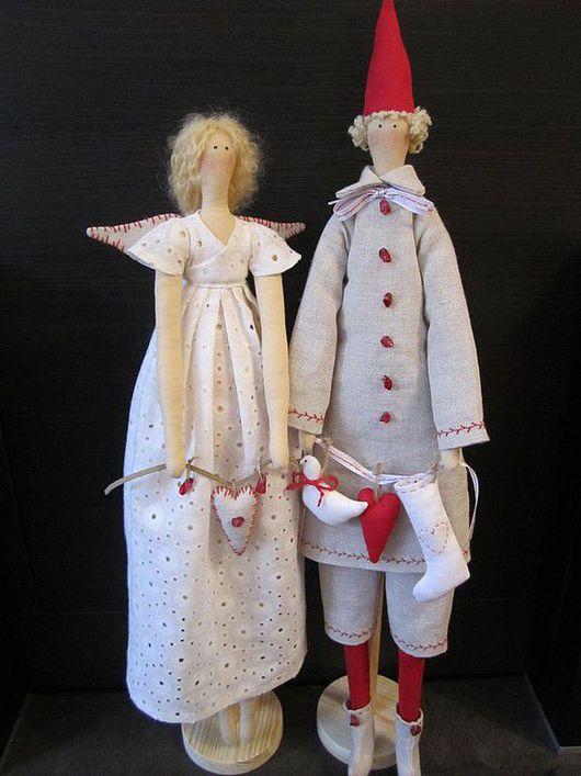 Куклы Тильды ручной работы. Ярмарка Мастеров - ручная работа. Купить Зимняя фея и Санта. Handmade. Фея тильда