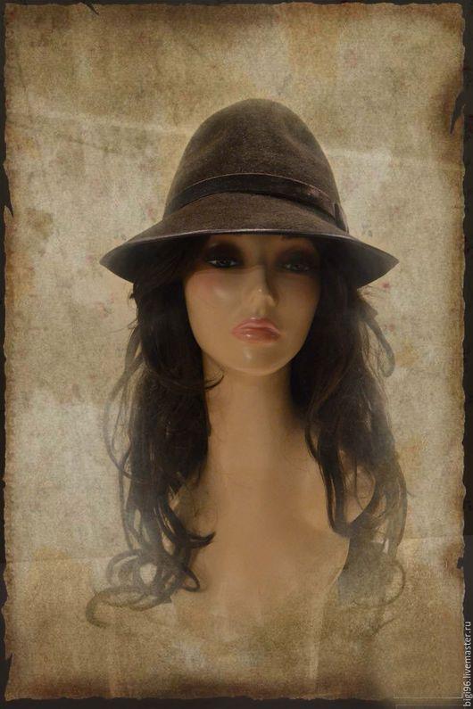 """Шляпы ручной работы. Ярмарка Мастеров - ручная работа. Купить Федора """"Горький шоколад"""". Handmade. Коричневый, шляпа из фетра"""