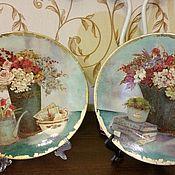 """Посуда ручной работы. Ярмарка Мастеров - ручная работа Комплект тарелок  """"Маленькая Италия"""". Handmade."""