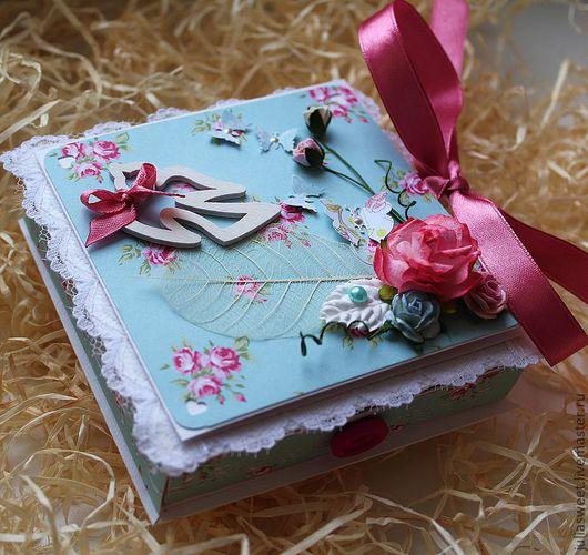 """Подарочная упаковка ручной работы. Ярмарка Мастеров - ручная работа. Купить Подарочная коробочка """"Пташка"""". Handmade. Голубой, подарочная коробочка"""