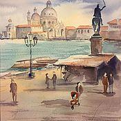 """Картины и панно ручной работы. Ярмарка Мастеров - ручная работа """"Набережная Венеции"""", акварель. Handmade."""
