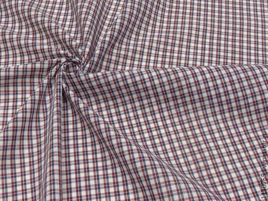 Шитье ручной работы. Ярмарка Мастеров - ручная работа. Купить Новинка ! Ткань хлопок сорочечный клетка красная. Handmade.