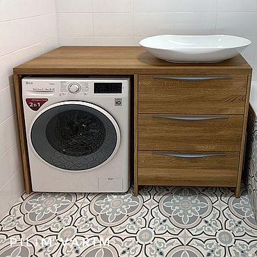 Мебель ручной работы. Ярмарка Мастеров - ручная работа Тумба в ванную из массива дуба. Handmade.
