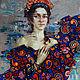 Портрет девушки  с цветами, Картины, Симферополь, Фото №1