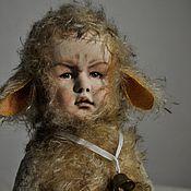 Куклы и игрушки ручной работы. Ярмарка Мастеров - ручная работа Тедди-дети. Хмурый барашек.. Handmade.