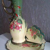 """Посуда ручной работы. Ярмарка Мастеров - ручная работа Дачный набор """"Фуксия"""". Handmade."""
