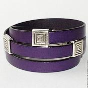Украшения ручной работы. Ярмарка Мастеров - ручная работа Браслет фиолетовый в три оборота. Handmade.