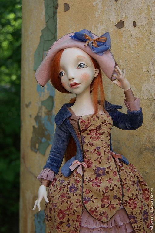 Коллекционные куклы ручной работы. Ярмарка Мастеров - ручная работа. Купить Коломбина в розовой шляпке. Handmade. Коломбина, розовая