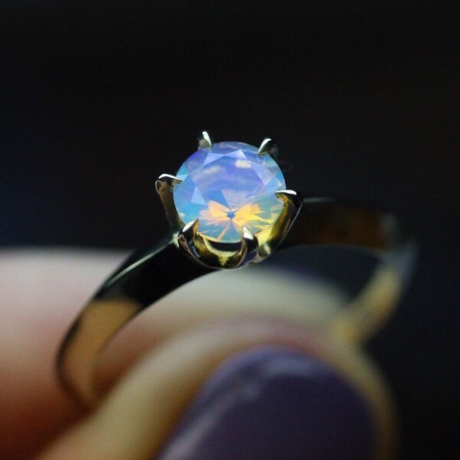 Looking glass ring with natural Opal, Rings, Moscow,  Фото №1
