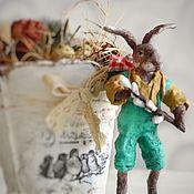 Пасхальные сувениры ручной работы. Ярмарка Мастеров - ручная работа Пасхальный сувенир:  Пасхальный  Кролик с вербой. Handmade.
