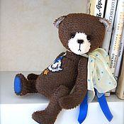 Куклы и игрушки ручной работы. Ярмарка Мастеров - ручная работа Мишка с вышивкой и музыкальным механизмом. Handmade.