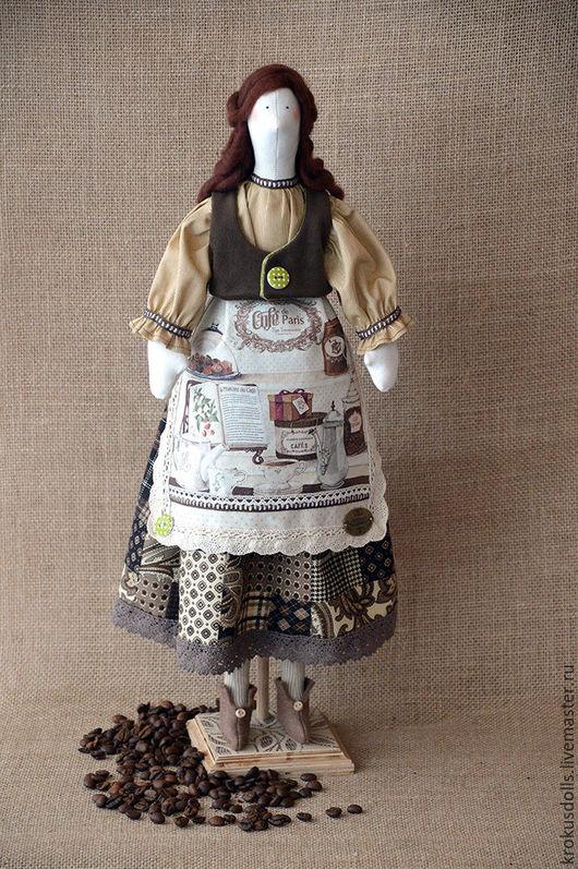 Куклы Тильды ручной работы. Ярмарка Мастеров - ручная работа. Купить Кофейная фея Джен. Handmade. Коричневый, тильда