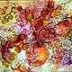 """Картины цветов ручной работы. Ярмарка Мастеров - ручная работа. Купить картина """"Букет Счастья"""" вышита бисером. Handmade. Картина"""