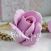 Материалы для творчества handmade. Livemaster - original item Silicone mold rose Bud half-opened. Handmade.