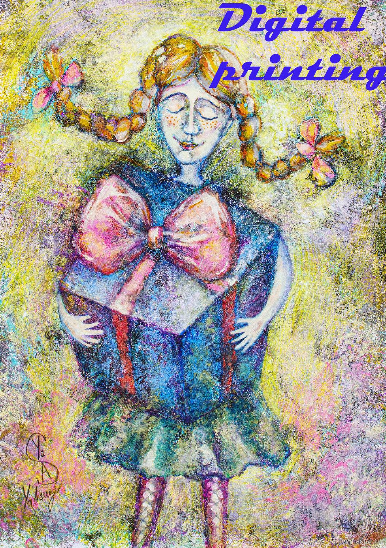 Рыжая девочка, Иллюстрации и рисунки, Элиста,  Фото №1