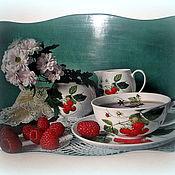"""Для дома и интерьера ручной работы. Ярмарка Мастеров - ручная работа Панно """"Чай с малиной"""". Handmade."""