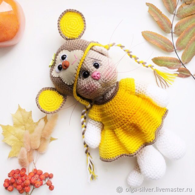 Вязаная кошечка в костюме обезьянки, Мягкие игрушки, Кумертау,  Фото №1