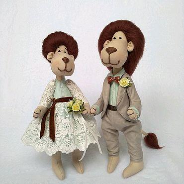 Свадебный салон ручной работы. Ярмарка Мастеров - ручная работа Влюбленные львы, львы молодожены. Handmade.