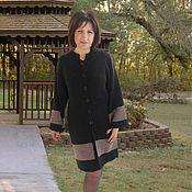 """Одежда ручной работы. Ярмарка Мастеров - ручная работа Готовая работа: Кардиган - пальто """" АНТРАЦИТ"""" Большие размеры. НОВИНКА. Handmade."""