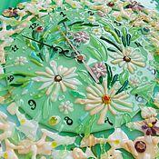 Для дома и интерьера ручной работы. Ярмарка Мастеров - ручная работа Часы фьюзинг, Полевые цветы. Handmade.