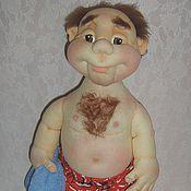 """Куклы и игрушки ручной работы. Ярмарка Мастеров - ручная работа """" После баньки """"  Кукла в технике скульптурный текстиль. Handmade."""