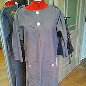Одежда ручной работы. Ярмарка Мастеров - ручная работа бохо платье (лен) лаванда. Handmade.