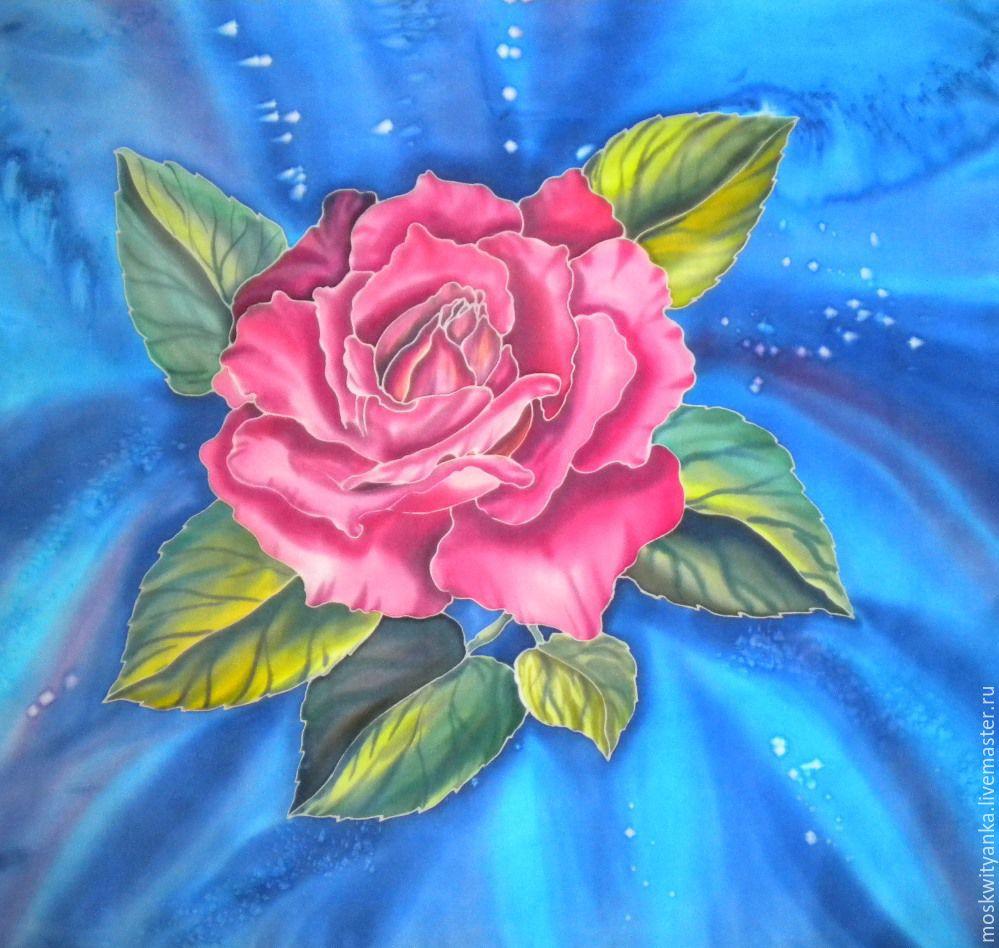 рисунок батик цветы можно