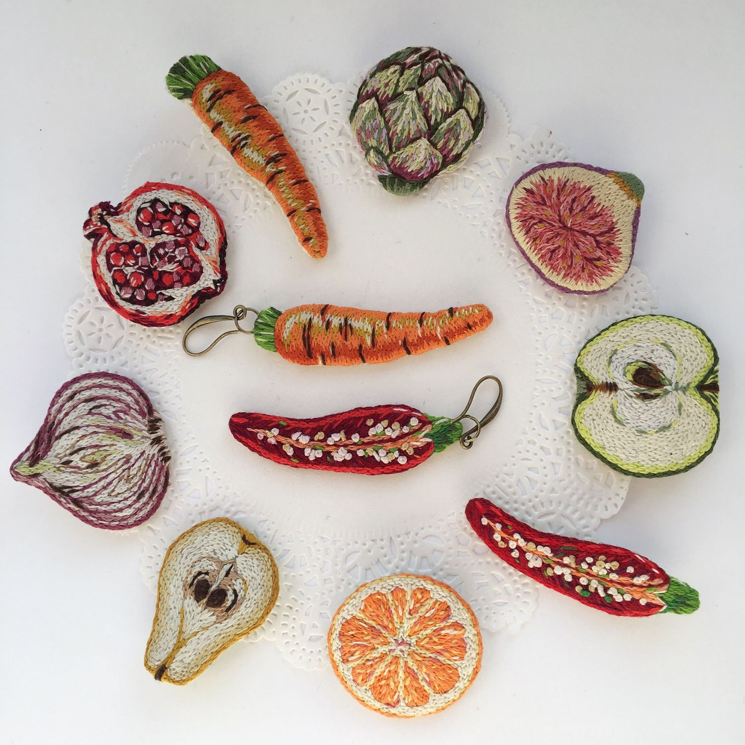 Set of brooches fruits and vegetables, Brooch set, Kemerovo,  Фото №1