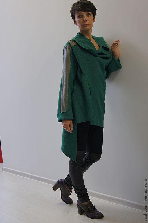 Верхняя одежда ручной работы. Ярмарка Мастеров - ручная работа. Купить Кардиган Бирюза Новая цена 6800!. Handmade. Зеленый