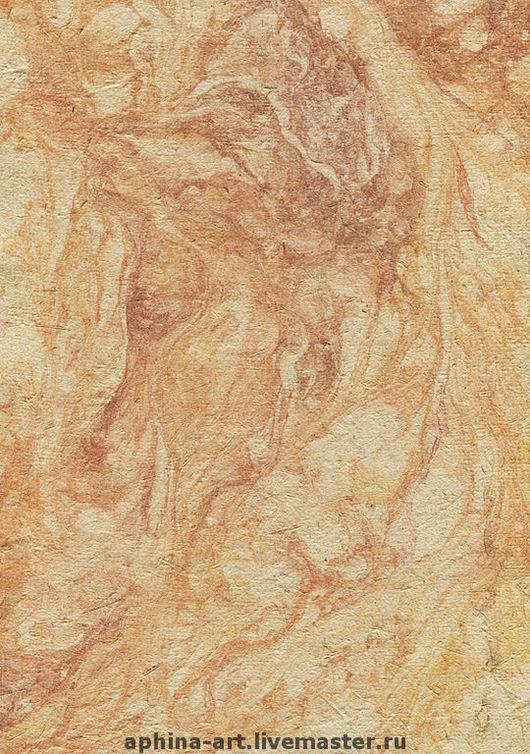 """бумага тростниковая, окрашенная под мрамор из коллекции """"Осенняя сказка"""""""
