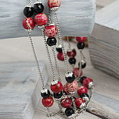 "Украшения handmade. Livemaster - original item Колье- сотуар, длинное ожерелье из камней ""Тайна двоих"". Handmade."