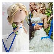 Куклы и игрушки ручной работы. Ярмарка Мастеров - ручная работа Портретная текстильная кукла Невеста. Handmade.