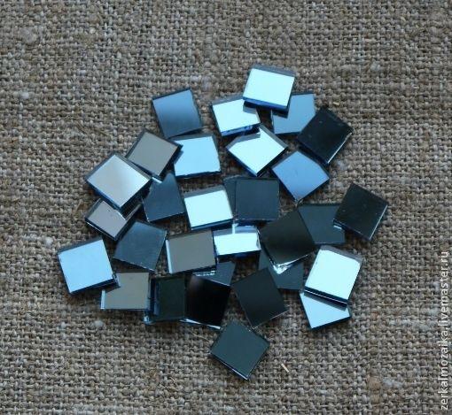 Другие виды рукоделия ручной работы. Ярмарка Мастеров - ручная работа. Купить Зеркальная мозаика - голубое зеркало (набор 100 шт). Handmade.