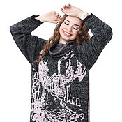 """Одежда ручной работы. Ярмарка Мастеров - ручная работа Вязаный свитер """"Сумерки """" из итальянской шерсти 100%. Handmade."""