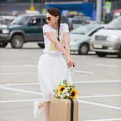 Юбки ручной работы. Ярмарка Мастеров - ручная работа Молочная фатиновая юбка. Handmade.