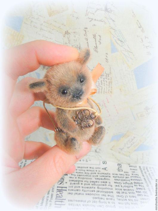 Мишки Тедди ручной работы. Ярмарка Мастеров - ручная работа. Купить Капучин (мини мишка тедди). Handmade. Коричневый