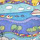 Шарфы и шарфики ручной работы. Заказать Почтовые улитки. Татьяна Ли (Gi-Gi). Ярмарка Мастеров. Платок, Пустыня, цветы