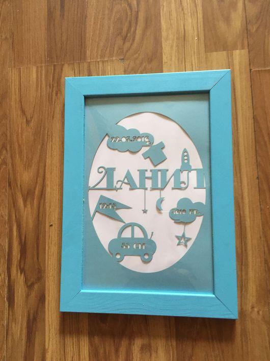 """Детская ручной работы. Ярмарка Мастеров - ручная работа. Купить """"Картина"""" новорожденному. Handmade. Детская комната, рамки, украшение для интерьера"""