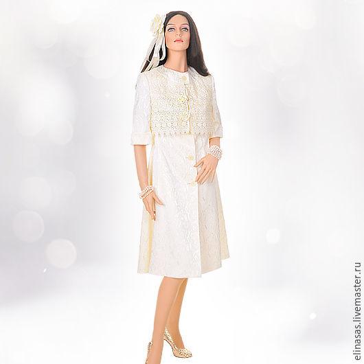 """Верхняя одежда ручной работы. Ярмарка Мастеров - ручная работа. Купить Тренч - пальто из """"Свадебной коллекции"""". Handmade. Кремовый, пальто"""