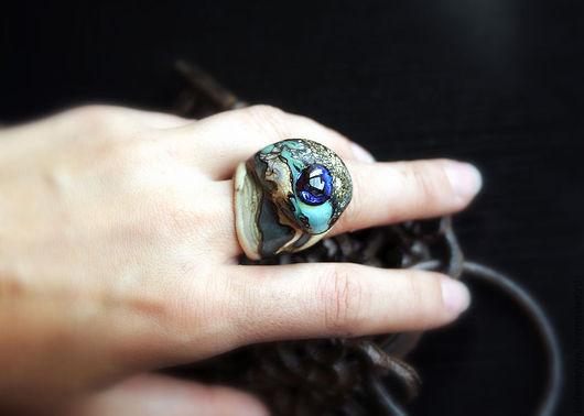 """Кольца ручной работы. Ярмарка Мастеров - ручная работа. Купить Кольцо лэмпворк """"Принцесса гор"""". Handmade. Серый, перстень"""
