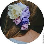 Украшения ручной работы. Ярмарка Мастеров - ручная работа Заколка для волос с цветами. Handmade.