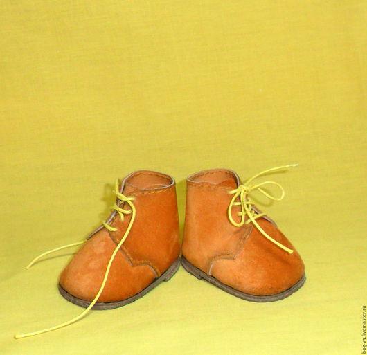 Одежда для кукол ручной работы. Ярмарка Мастеров - ручная работа. Купить Рыжие ботинки для медведя, зайца и пр..... Handmade. Рыжий