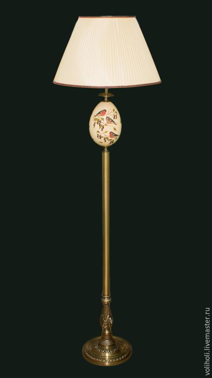 Освещение ручной работы. Ярмарка Мастеров - ручная работа. Купить Комплект Торшер и Настольная лампа. Handmade. Настольная лампа, птички